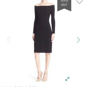 L'Agence Black Off the Shoulder Sheath Dress